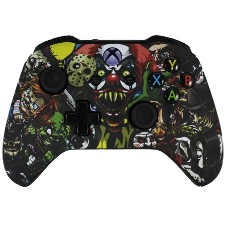 Xbox One Modded Custom Rapid Fire Controller Scary Party Soft Touch With White LED (The Best Modded Controllers)