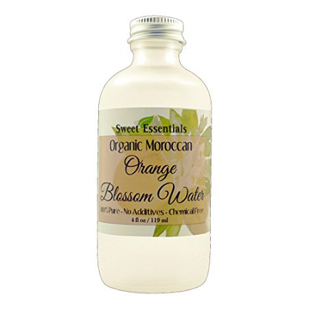 Organic Moroccan Orange Blossom (Neroli) Water | 4oz Glass Bottle | Imported From Morocco | Edible | Packed With Natural Antioxidants | Perfect for Reviving, Hydrating & Rejuvenating Your Face (Glasses To Fit Your Face)