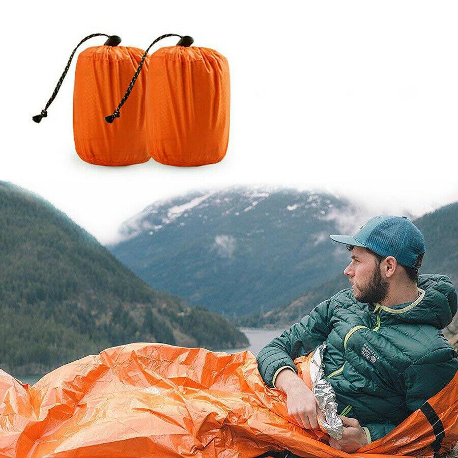 1PCS X Camping Outdoor Emergency Sleeping Blanket Single Survival Sleep Gear