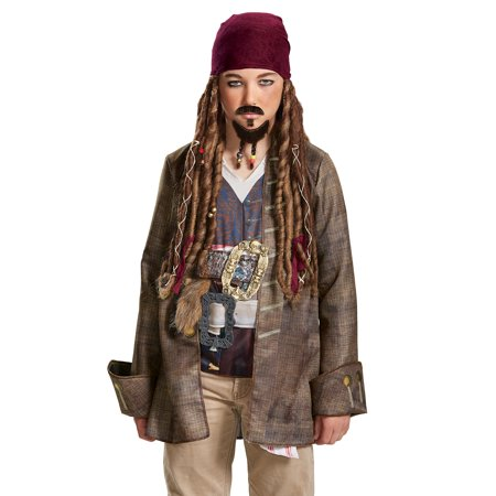 Pirates of the Caribbean 5: Goatee Mustache Adult One-Size - Size One-Size - Pirate Moustache
