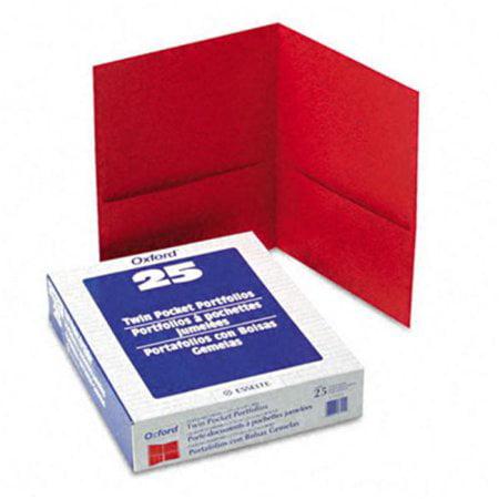 Esselte Pendaflex Twin-Pocket Portfolio Embossed Leather Grain Paper