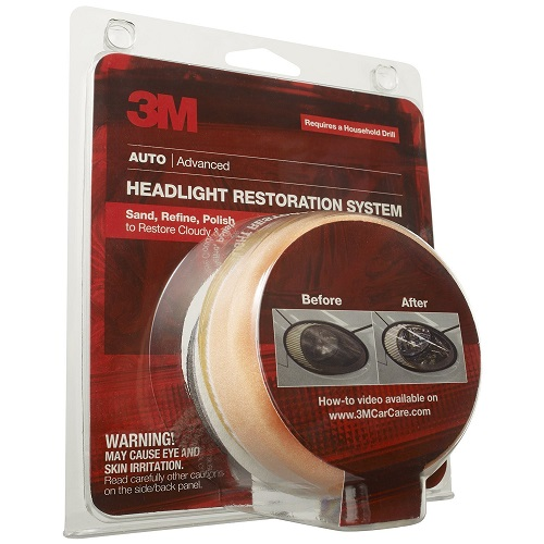 3M 39008 Headlight Lens Restoration System, 4-Pack