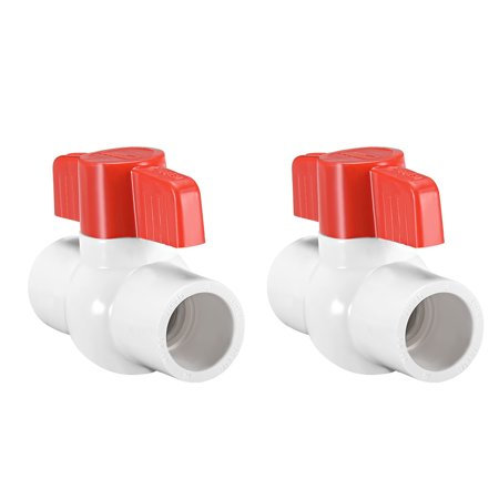 3/4 Ball Hole (PVC Ball Valve Water Pipe Slip Ends 3/4