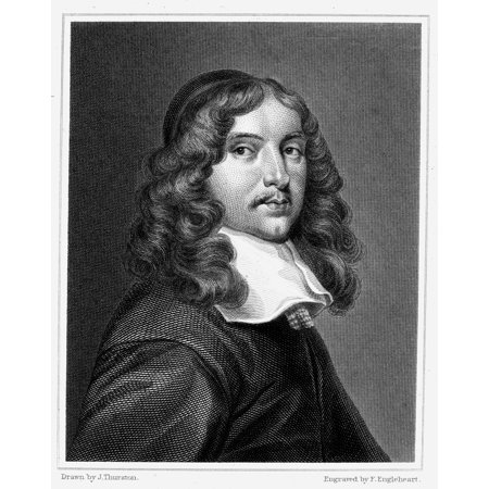 Andrew Marvell  1621 1678  Nenglish Poet Satirist And Politician Steel Engraving English 1821 Rolled Canvas Art     24 X 36