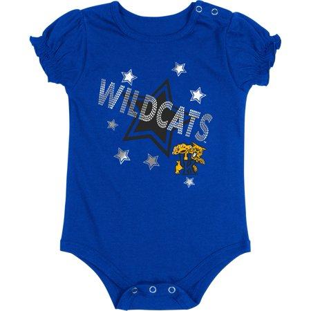 Kentucky Wildcats UK Baby Bodysuit Silver Star - Robin Onesie Uk