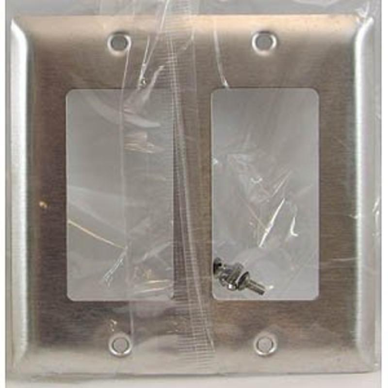302 Stainless Steel Wallplate Decorator Openings 2-Gang Pass and Seymour SS262