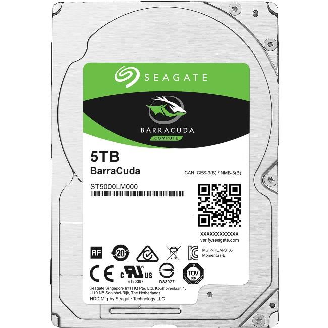 "Seagate Guardian BarraCuda ST5000LM000 -5 TB Internal Hard drive 2.5"" SATA 6Gb s by Seagate"
