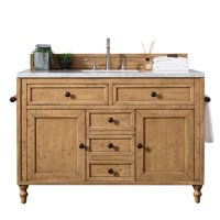 "James Martin Vanities 300-V48-3AF Driftwood Patina Copper Cove 48"" Free Standing Single"