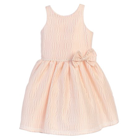 Sweet Kids Little Girls Blush Hot Air Balloon Stripe Flower Girl Dress