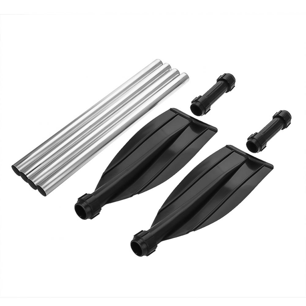 2Pcs Aluminium Alloy Detachable Lightweight Ribbed Blade Kayak Paddles Boat Oars , Lightweight Kayak Paddle, Aluminum Alloy Boat Paddle