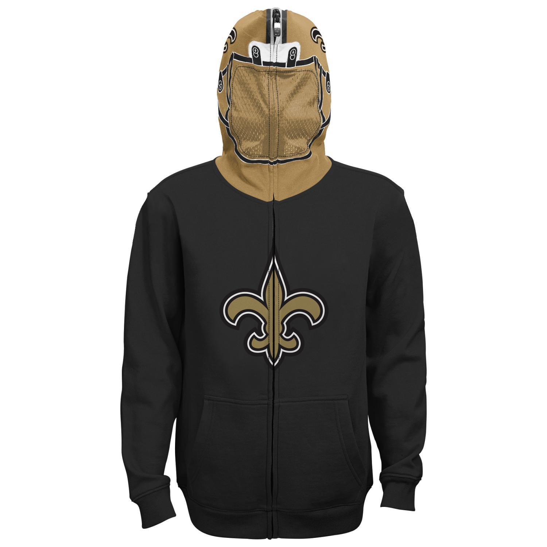 "New Orleans Saints Youth NFL ""Helmet"" Full Zip Sweatshirt"