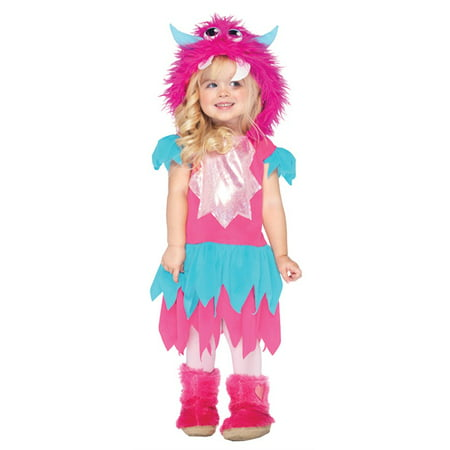 Furry Monster (Sweetheart Monster,dress w/zig zag skirt, furry monster)