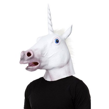 YTM(TM) Creepy Magical Unicorn Head Masks Halloween Latex Rubber - Fancy Dress - Celebrity Rubber Masks