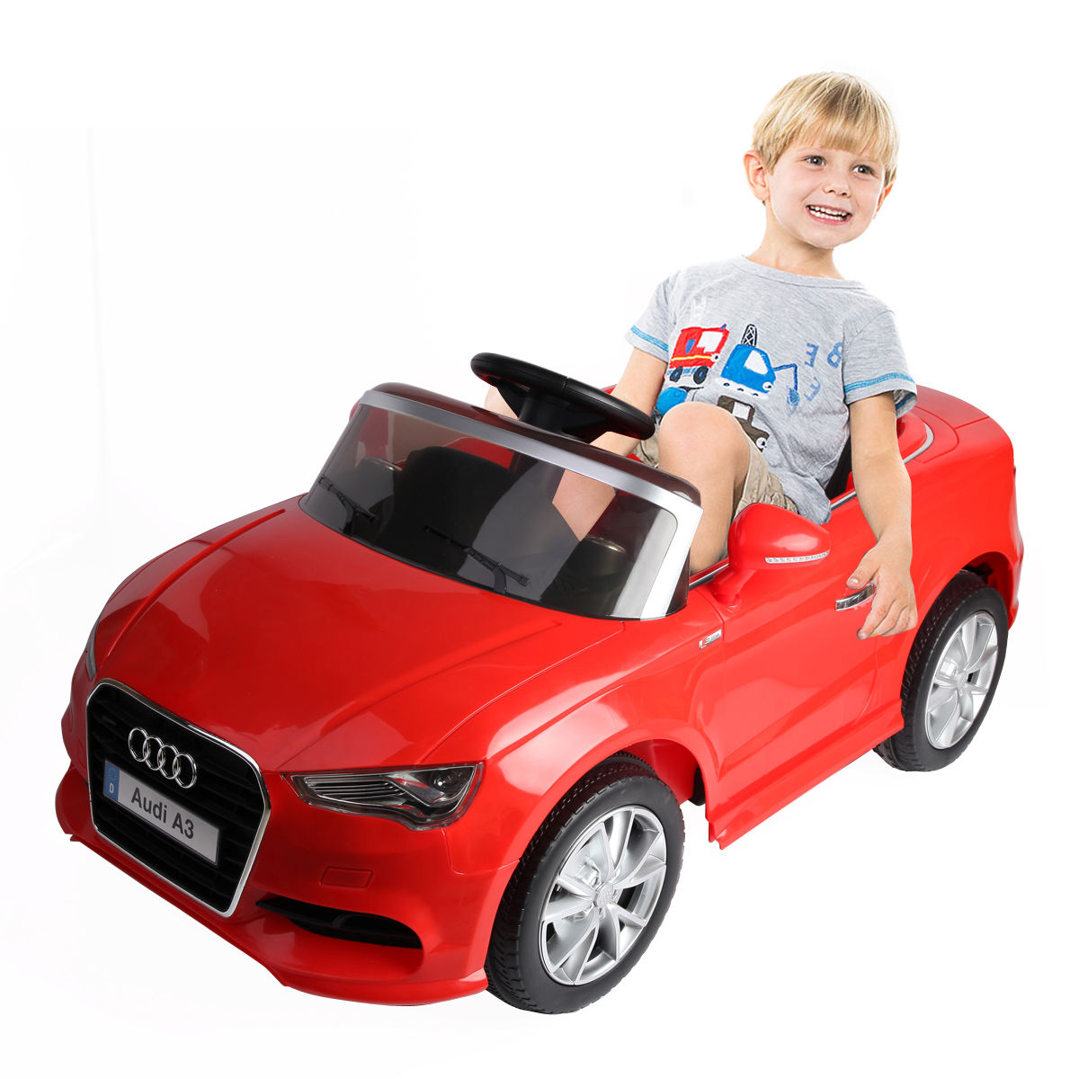 Costway 12V Audi A3 Licensed RC Kids Ride On Car Electric Remote Control LED Light Music by Costway