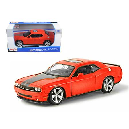 Orange Dodge Model - 2008 Dodge Challenger SRT8 Orange 1/24 Diecast Model Car by Maisto