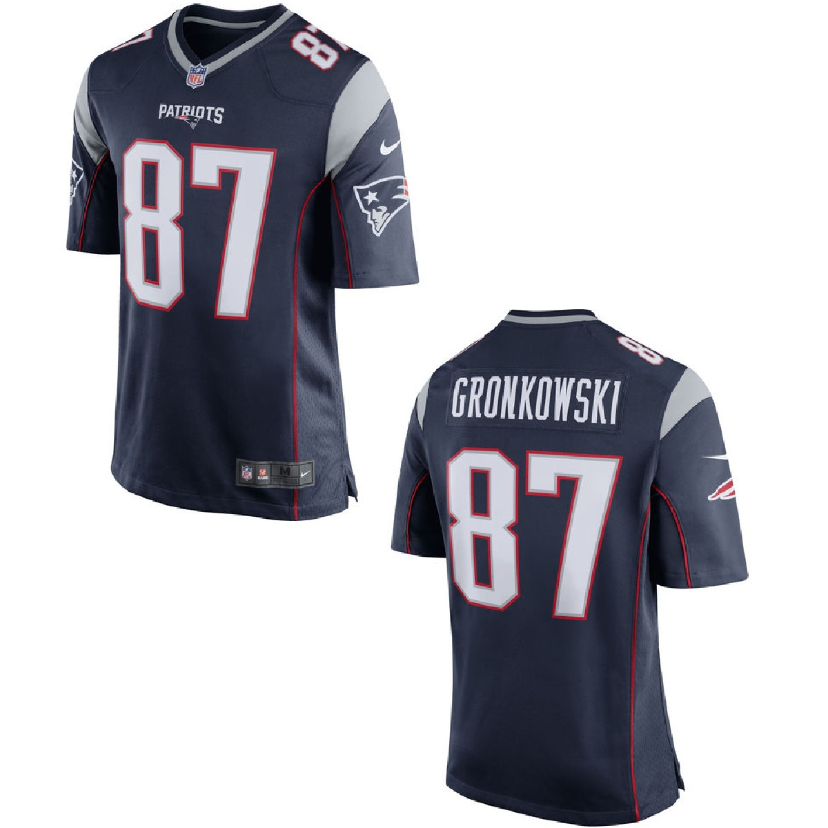 New England Patriots Rob Gronkowski Blue Youth Nike Game Jersey (Youth L)
