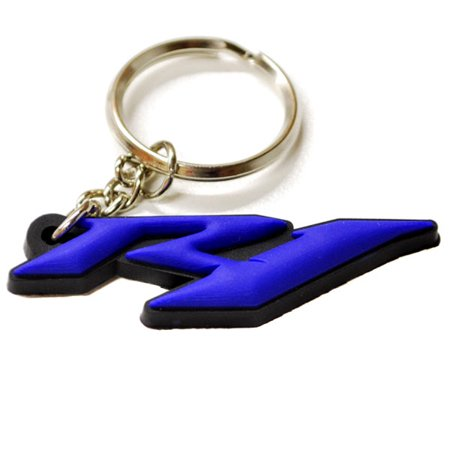 Yamaha Motorcycle Decals (Krator YAMAHA YZF R1 YZFR1 KEYCHAIN KEY RING FOB LOGO DECAL MOTORCYCLE)