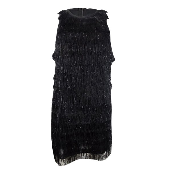 Avec Les Filles Women's Fringe-Trim Shift Dress
