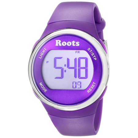 Cayley Womens Resin Strap Digital Chronograph Watch Backlight Alarm Purple