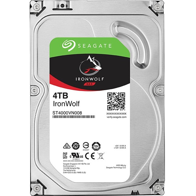 Seagate ST4000VN008 4TB 5900RPM Hard Drive with 64MB Cache, SATA, 3.5""