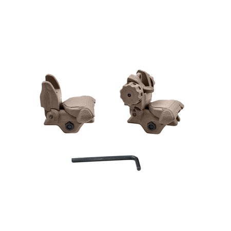 Back-up Sight Set, Front and Rear, Polymer, Tan