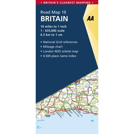 Britain Road Map (Aa Road Map)