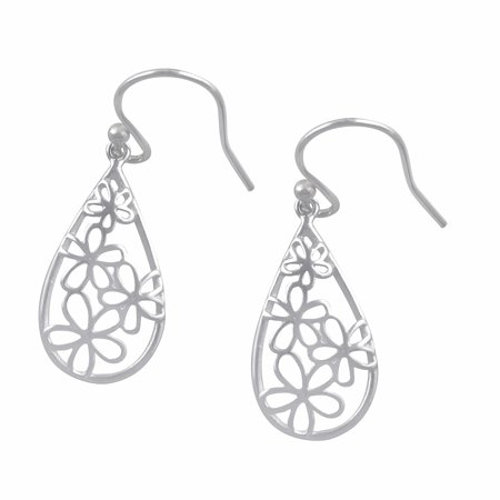 Sterling Silver BoHo Daisy Flower Dangle -