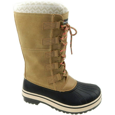 White Lace Snowboard Boots (Ozark Trail Women's Tall Lace Up Winter)