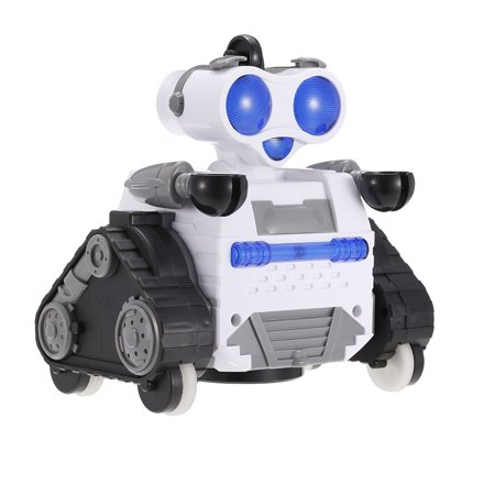 Radio Remote Control Transmitter - Smart Robot Toys RC 2.4Ghz Transmitter Remote Control Robot with Rolling Ball and LED Lights for Kids