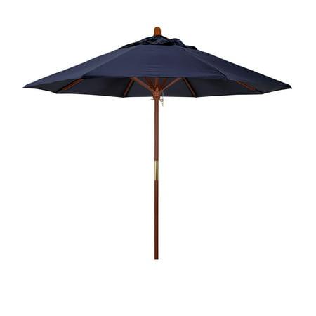 California Umbrella 9 ft. Sunbrella Marenti Wood Market Umbrella