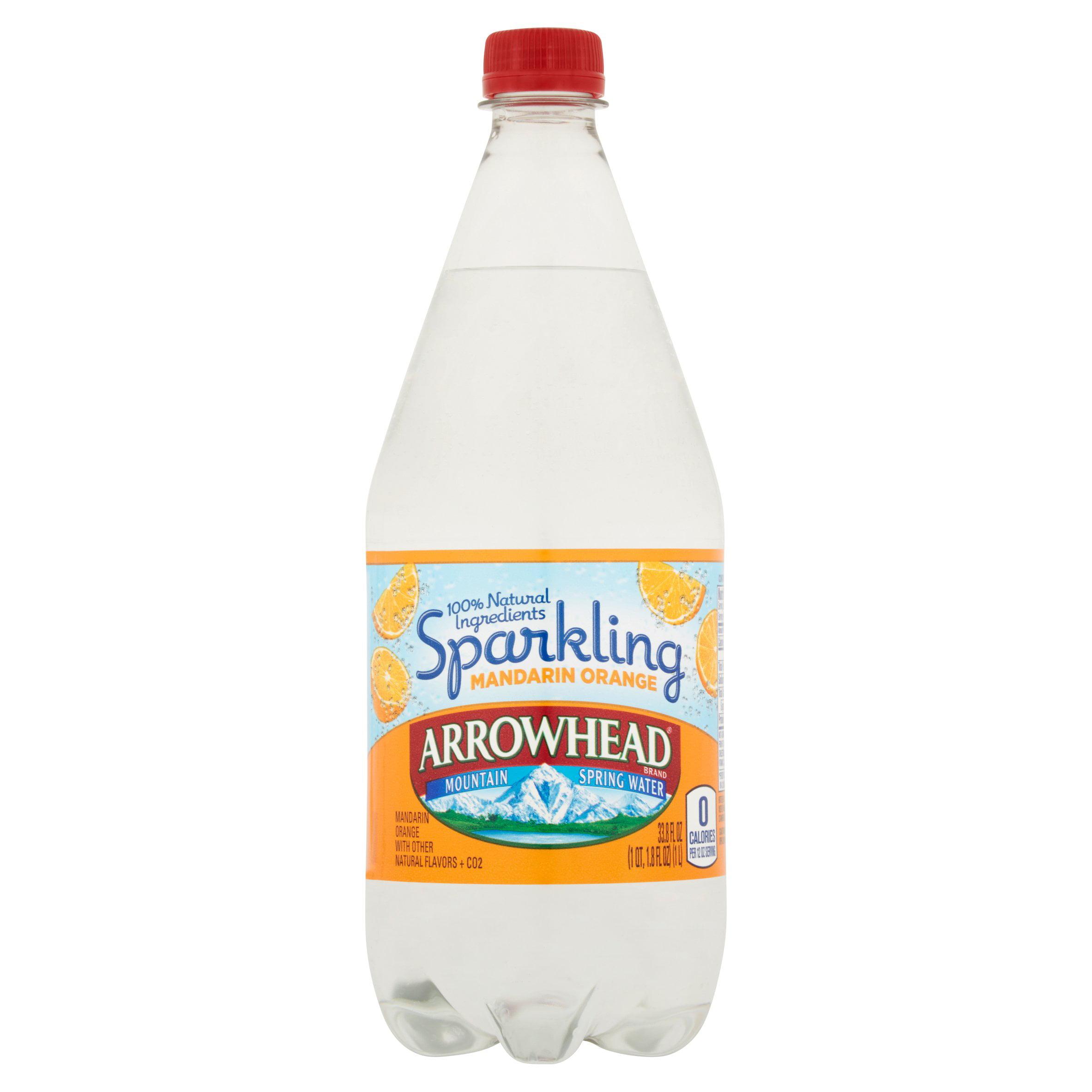 ArrowHead Sparkling Mandarin Orange Mountain Spring Water 33.8fl oz by Nestlé Waters North America Inc.