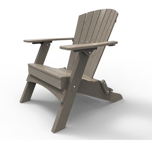 Folding Adirondack Chair by Malibu Outdoor - Hyannis, Weathered Wood