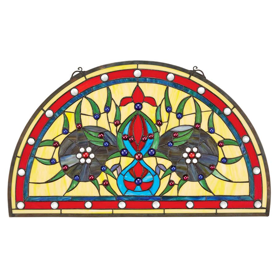 Design Toscano Palladios Demi-Lune Stained Glass Window