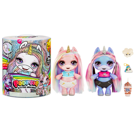 "Poopsie Slime Surprise Glitter Unicorn: Stardust Sparkle or Blingy Beauty, 12"" Doll with 20+ Magical Surprises"