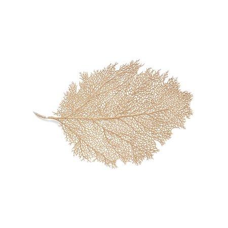 Metallic Leaf Placemat Medium Size 11.5