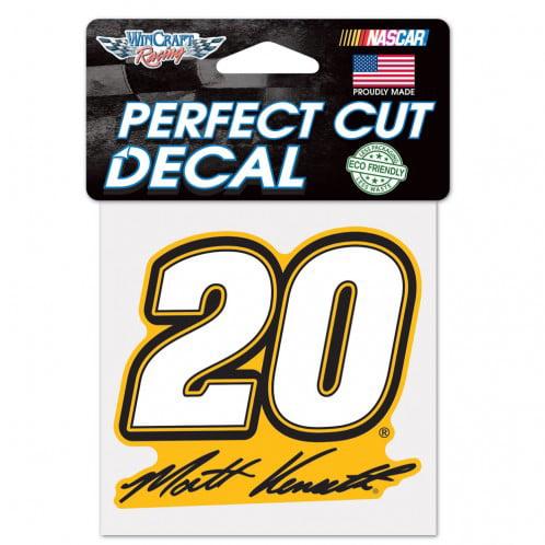 Matt Kenseth Official NASCAR 4 inch x 4 inch  Die Cut Car Decal by WinCraft