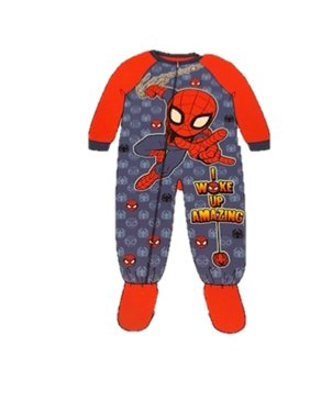 Spider-Man Toddler Boys Footed Pajamas Blanket Sleeper Woke up Amazing (5t)