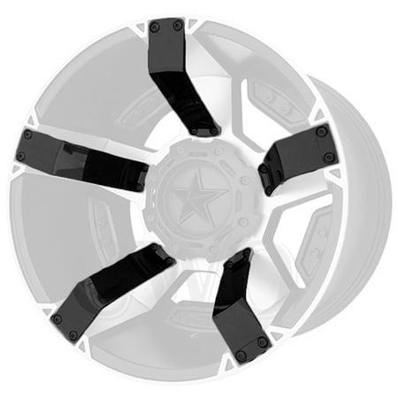 Gloss Black XD Series XD811 Rockstar II Inserts For 18x9 +0mm Offset