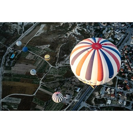 Canvas Print Hot Air Balloons Balloons Outdoors City Adventure Stretched Canvas 10 x 14 - Party City Sale