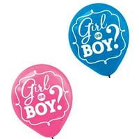 Baby Shower Gender Reveal 'Girl or Boy' Latex Balloons (15ct)