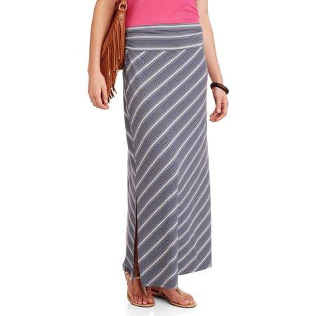 1354b86c3 Faded Glory - Women's Maxi Skirt With Side Slits - Walmart.com