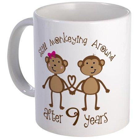 CafePress - 9Th Anniversary Love Monkeys Mug - Unique Coffee Mug, Coffee Cup CafePress