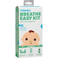 Fridababy Breathe Easy Kit: Sick Day Essentials, includes Vapor Drops, Rub and Wipes