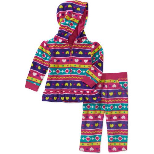 Garanimals Newborn Girls' 2 Piece Fleece Hoodie and Pant Set