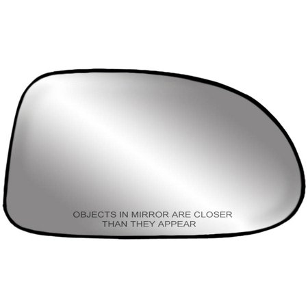 "80017 - Fit System Passenger Side Non-heated Mirror Glass w/ backing plate, Dodge Dakota Pick-Up, Durango 97-00, 5"" x 8 1/ 16"" x 8 5/ 16"" (non-foldaway mirrors, 5x7)"