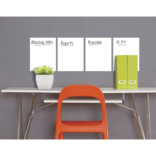 "Wallies Peel & Stick 4-Sheet Dry Erase, 9"" x 12"""
