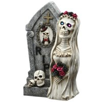 National Tree Company 16-inch Tombstone and Skeleton Bride Deals