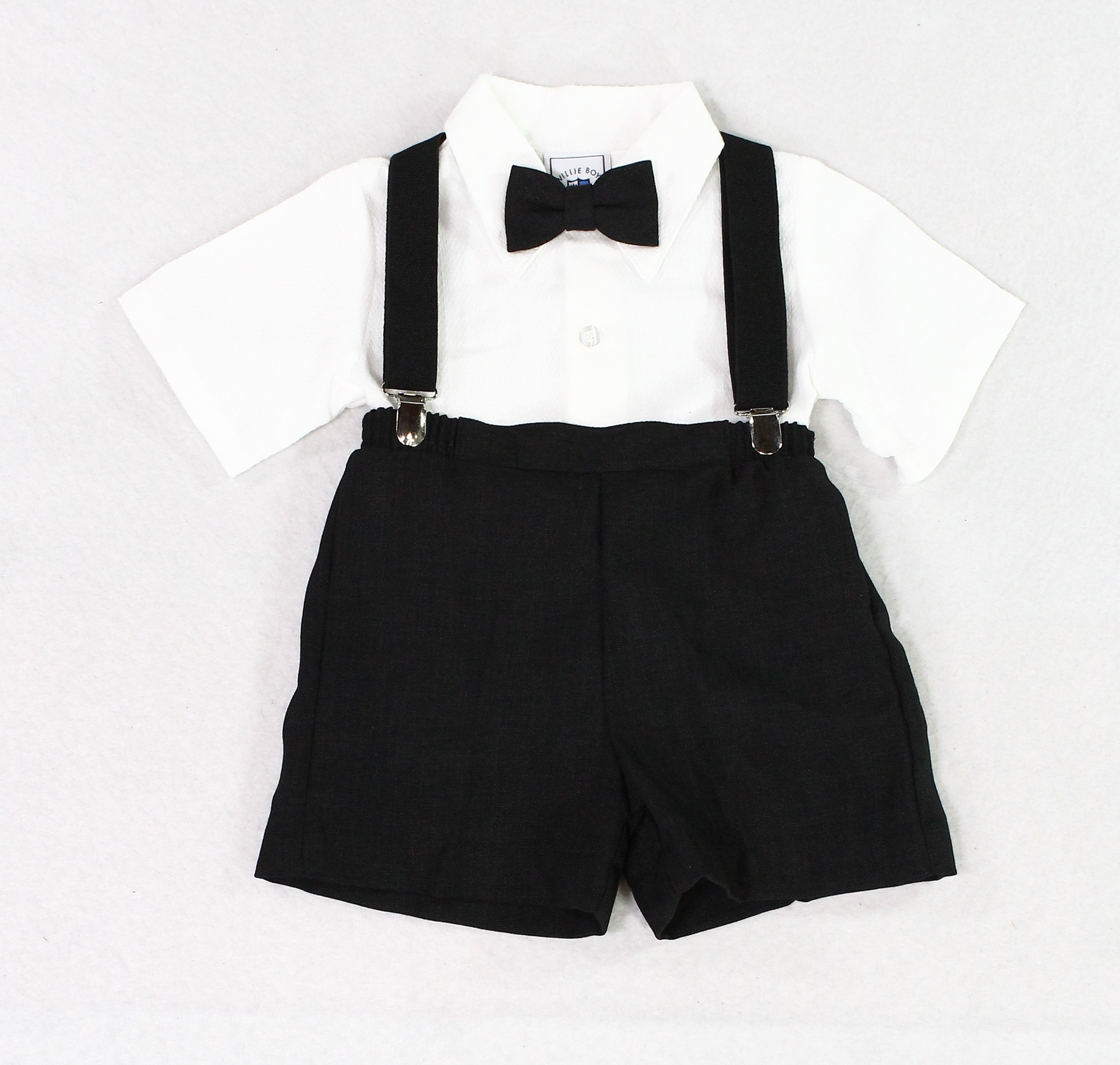 71059f9a07760 Willie Boy White Baby Boys 24 Months Suspenders Outfit