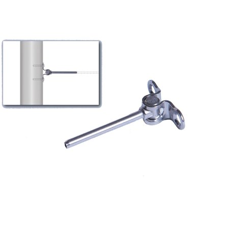 VistaView Stainless Steel Hand-Crimp Deck Toggle for 1/8