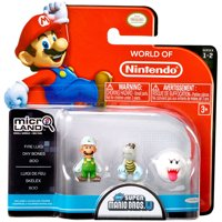 Fire Luigi, Dry Bones, Boo Mini Figure 3-Pack Micro Land Series 2